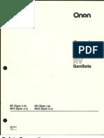 6747312 Onan BF BFA BGA NH Service Manual