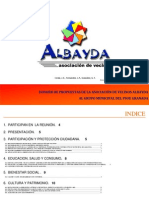 Propuestas de ALBAYDA al PSOE Granada