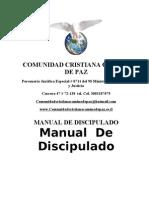 Manual de Discipulado COMUNIDAD CRISTIANA CAMINO DE PAZ