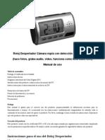 manual de instrucciones reloj cámara