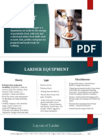 Larder Food Production B.sc , BHM 5th Semester