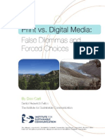 Printvsdigital False Dilemmas and Forced Choices