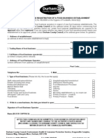 DCC Food Registration Form