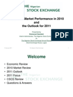 NSE review of 2010 and outlok for 2011