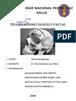 TRAUMATISMO-MAXILO-FACIAL