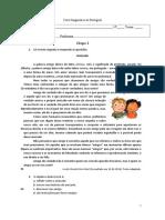 Teste Diagnóstico de Português 8ºAno