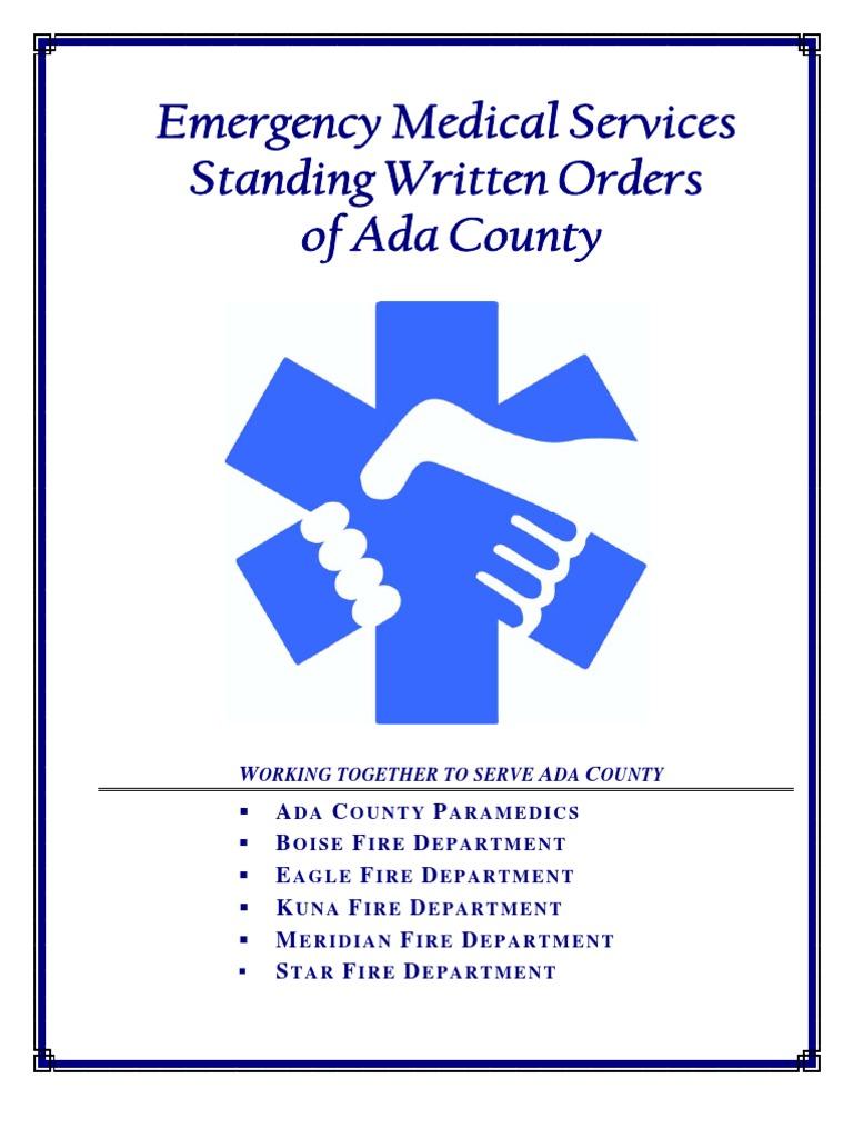 Ada Co Boise Id Protocols 2010 Emergency Medical Services