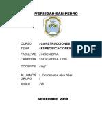 CONSTRUCCIONES II- 2019-INFORME