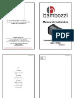 bambozzi Manual de Instruções