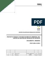 Proyecto Tecnico y Estudio de Impacto Ambiental Del Centro de Gestion de Residuos de Gipuzkoa