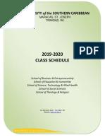USC Class Schedule 19/20