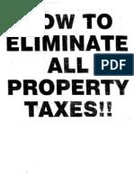 Eliminate Property Taxes I