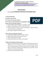 1. Guía de lectura de algunas clases de El Seminario 5