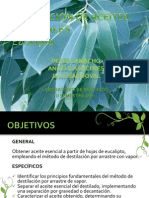Extracción de aceites esenciales. presentación