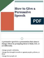 persuading
