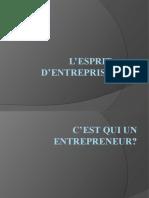 L'esprit d'entreprise