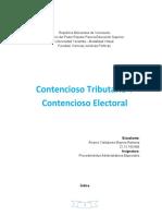 Trabajo Contencioso tributario y electoral