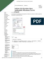 Paramètres de données dans ComboBoxAdv Windows Forms (classique)