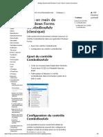 Prise en main de Windows Forms ComboBoxAdv (classique)