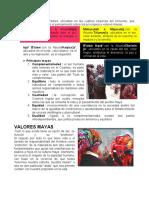 PRINCIPIOS VALORES Y COSTUMBRES MAYAS
