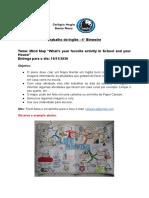 Instruções do Trabalho de Inglês 3° ano - 4° Bimestre