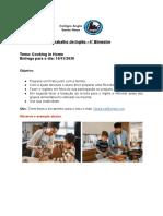 Instruções do Trabalho de Inglês 4° ano - 4°Bimestre