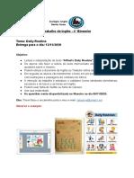 Instruções do Trabalho de Inglês 5° ano - 4° Bimestre