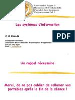1- Les SI 2019-2020