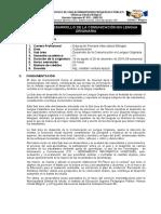 3.  2019 - II DESARR. DE LA COM. LENGUA ORIG. PRIMARIA IV