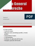 SESION 6 Teoría General del Derecho.pptx