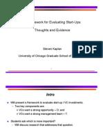 VC Framework Evaluating Start Ups Kaplan