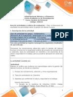 Guia de actividades y Rúbrica de evaluación - Unidad 1 y  2 - Paso 4 - Generación de resultados de aprendizaje sobre la gestión de talento humano