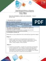 Guía de actividades y rubrica de evaluación - Unidad 1 - Tarea 2 - Writing Task