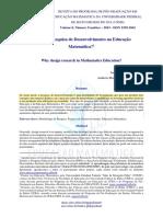 ENCONTRO 6 - Por que a pesquisa de desenvolvimento na Educação Matemática