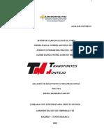 ANALISIS DE FACTORES DE LA COMPAÑIA TRANSPORTES MONTEJO Listo