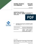 NTC-ISO 80000-2 de 2012