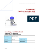 SITXHRM001 Coach Others in Job Skills Assessment D-Case-study