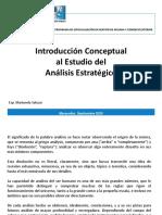 Introducción Conceptual al Estudio del Análisis Estratégico
