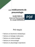 Les medicaments de pneumologie (3)