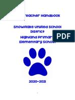 new teacher handbook 2020