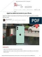 Apple has added new button to your iPhone - Technology News