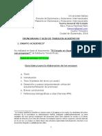 CRONOGRAMA Y GUÍA DE TRABAJOS