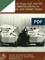 U.S. Marines in the Persian Gulf 1990-0991 Marine Communications in Desert Shield and Desert Storm