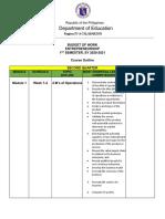 2 ENTREPRENEURSHIP_Budget of Work 2nd Quarter 2020