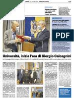 Università, inizia l'era di Giorgio Calcagnini - Il Resto del Carlino del 30 ottobre 2020