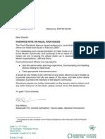 UK FSA Guidance on Halal