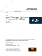 Impact of Government Policies on the Development of ICT in Ethiop