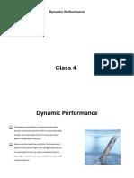 Class 4 - Dynamic Performance Characteristics