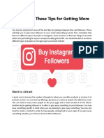 How to Use These Tips for Getting More Followers