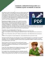 Criminalitatea Con¡tient¦ A Industriei Farmaceutice +i A Sistemului Politic Continu¦ +i Prin Vaccinurile Cu Mercur